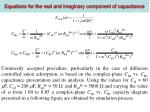 equations for the real and imaginary component of capacitance