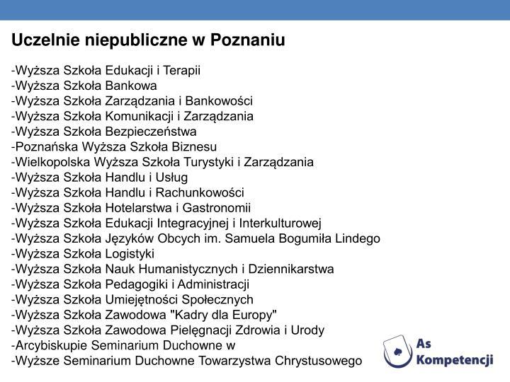 Uczelnie niepubliczne w Poznaniu