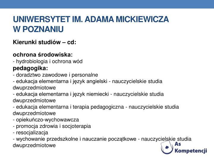 Uniwersytet im. Adama Mickiewicza