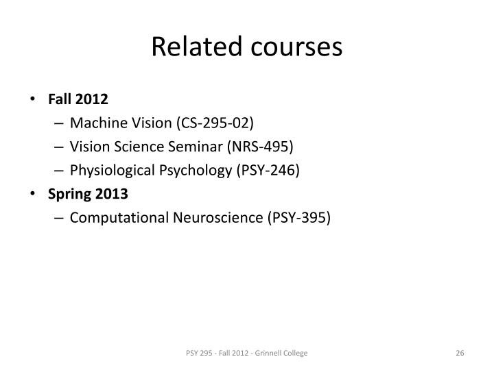 Related courses