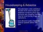 housekeeping asbestos
