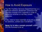 how to avoid exposure1