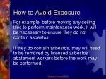 how to avoid exposure5