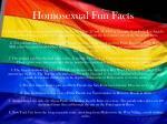 homosexual fun facts