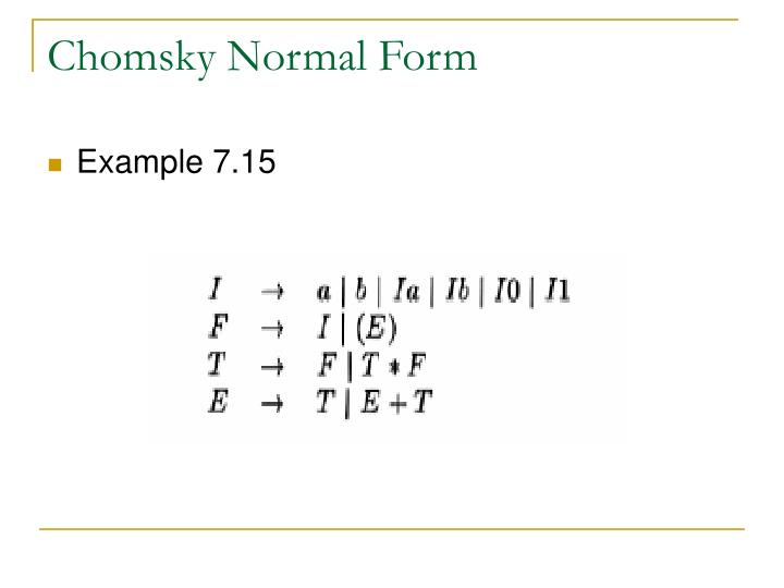 Chomsky Normal Form