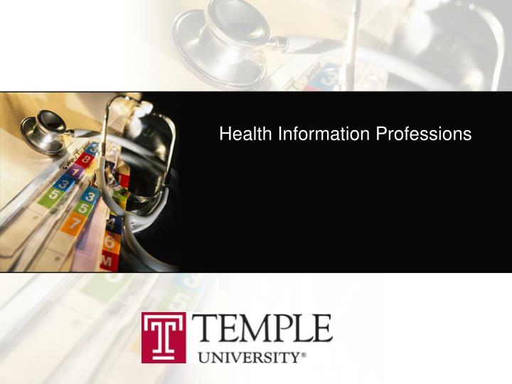health information professions n.