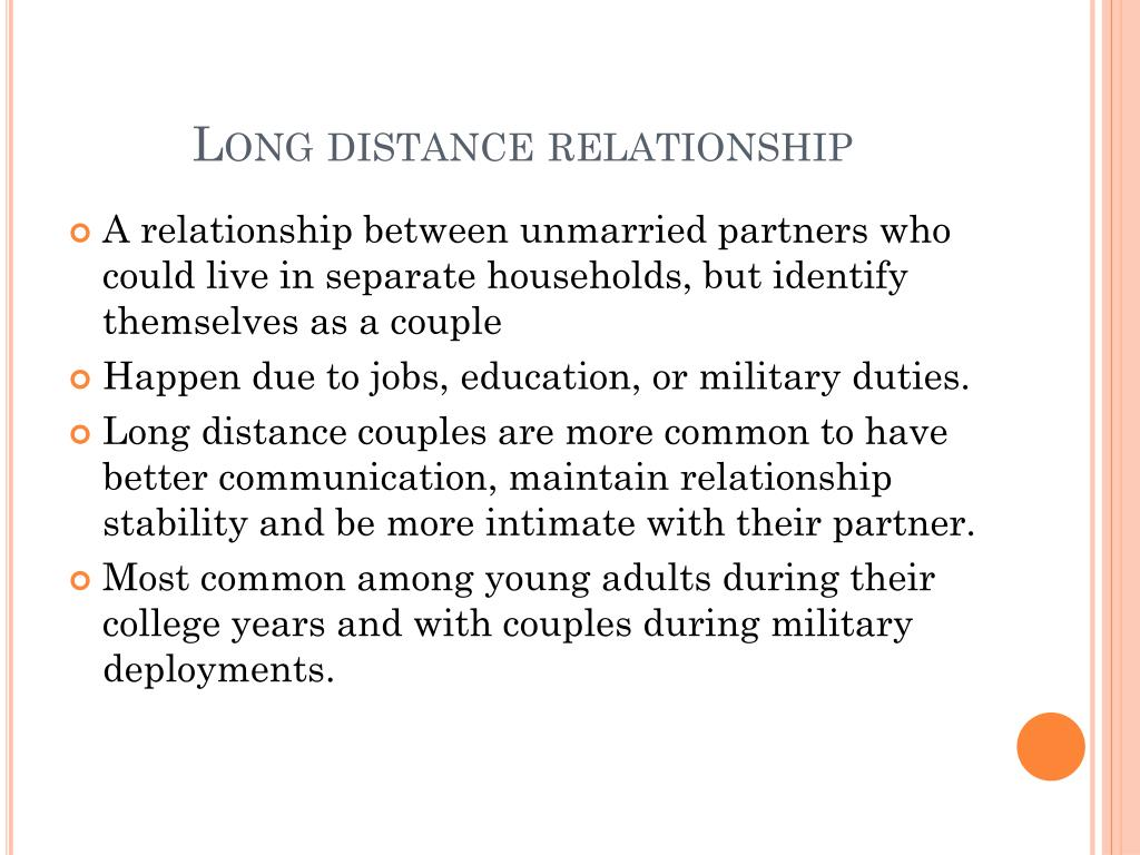 PPT - Long distance relationships vs  close relationships