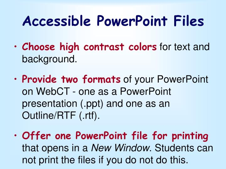 Accessible PowerPoint Files