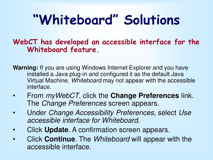 """""""Whiteboard"""" Solutions"""