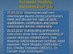 european meeting demonstration day