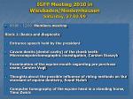 igfp meeting 2010 in wiesbaden niedernhausen saturday 27 03 09