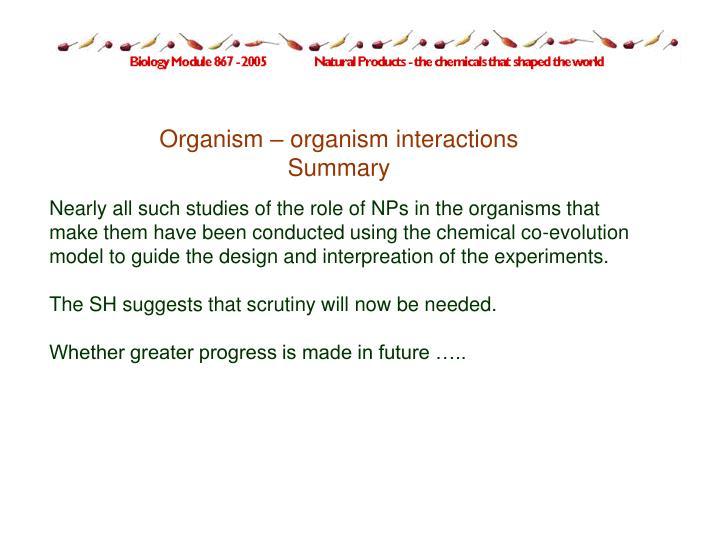 Organism – organism interactions