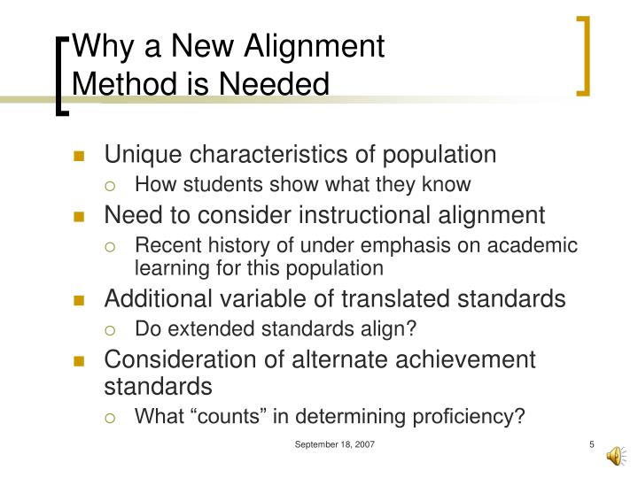 Why a New Alignment