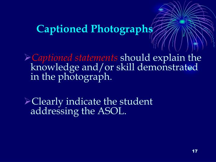 Captioned Photographs