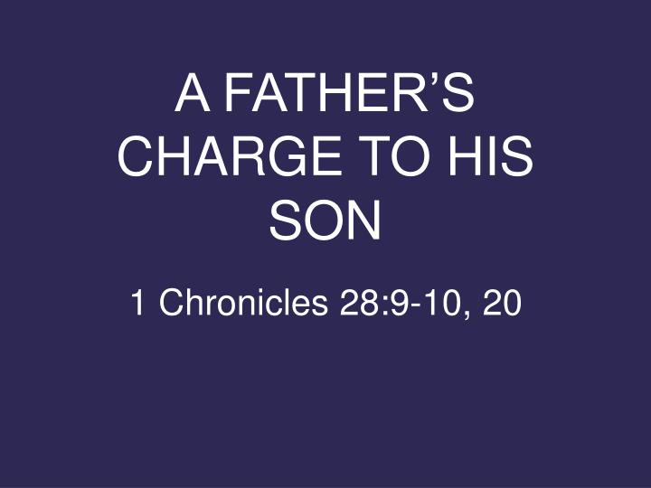 a father s charge to his son n.