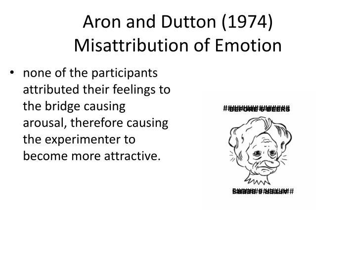 misattribution of arousal example