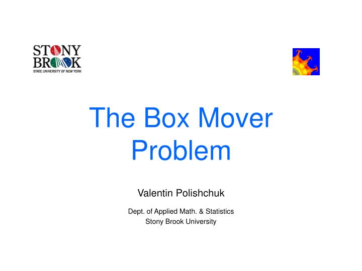 the box mover problem n.