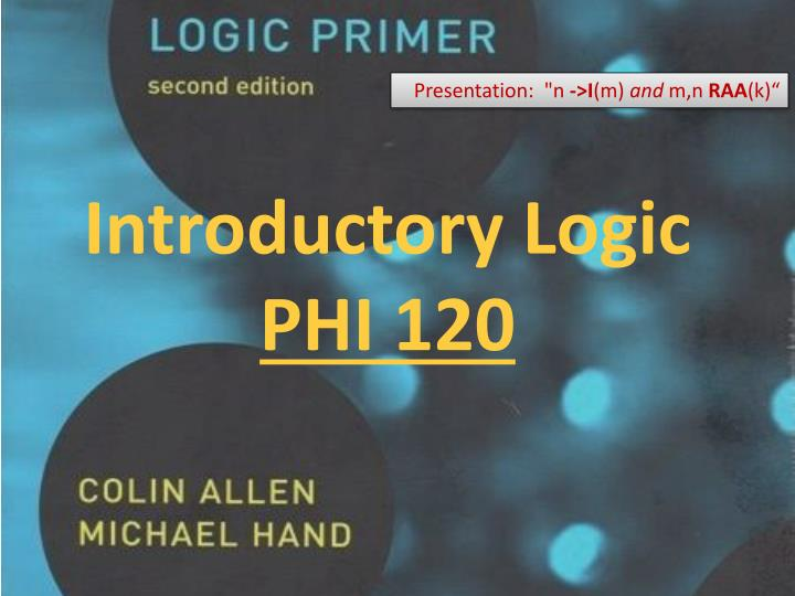 introductory logic phi 120 n.