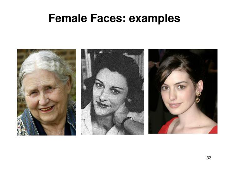 Female Faces: examples