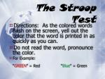 the stroop test