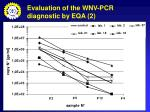 evaluation of the wnv pcr diagnostic by eqa 2