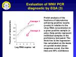 evaluation of wnv pcr diagnostic by eqa 3