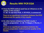 results wnv pcr eqa