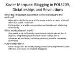 xavier marquez blogging in pols209 dictatorships and revolutions