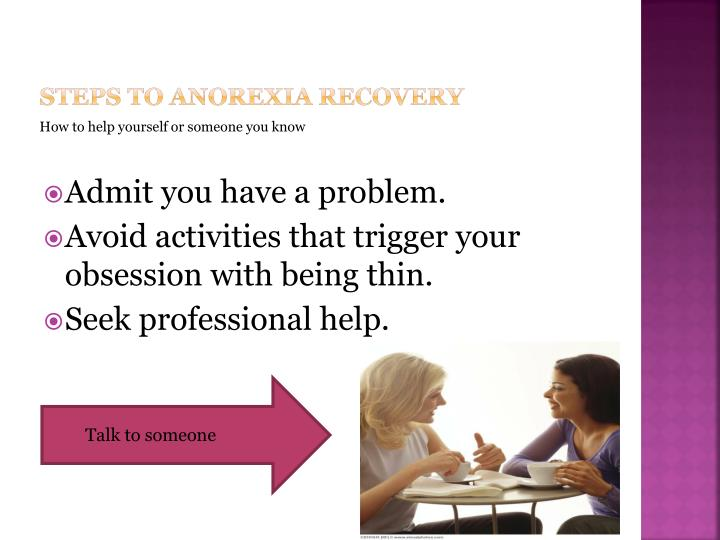 Steps to anorexia