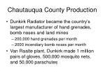 chautauqua county production