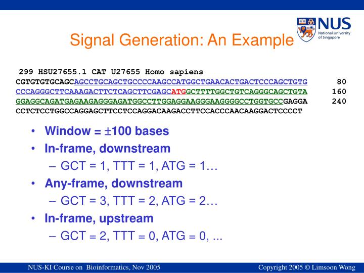 Signal Generation: An Example
