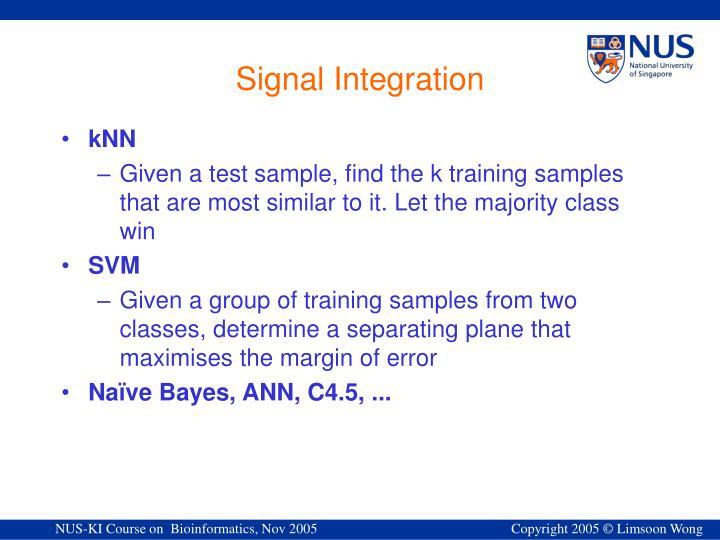 Signal Integration