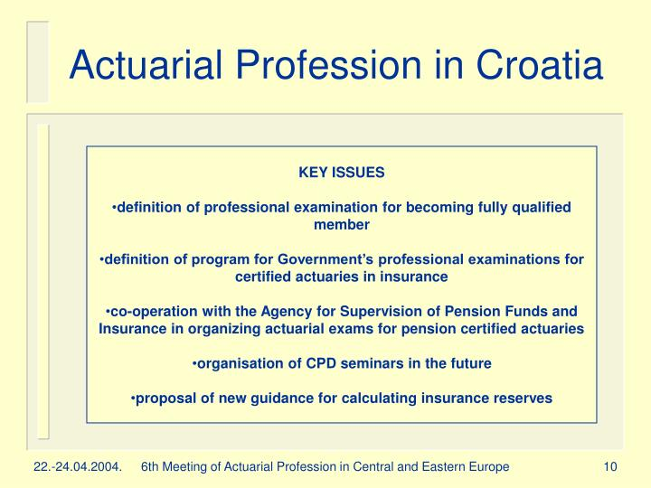 Ppt The Development Of Actuarial Profession In Croatia Powerpoint