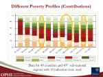 different poverty profiles contributions