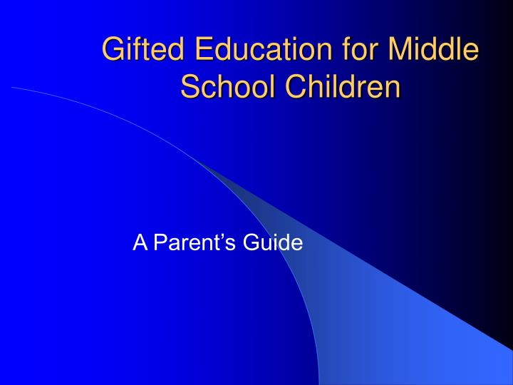 gifted education for middle school children