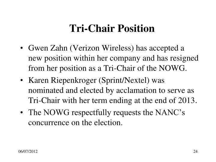Tri-Chair Position