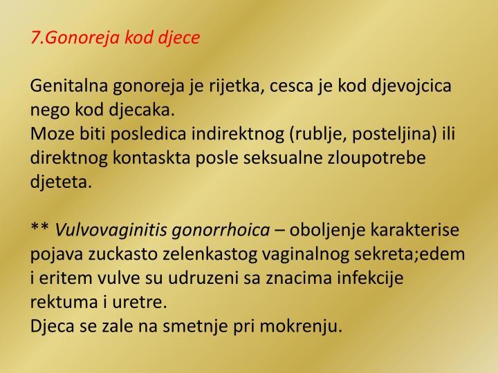 7.Gonoreja