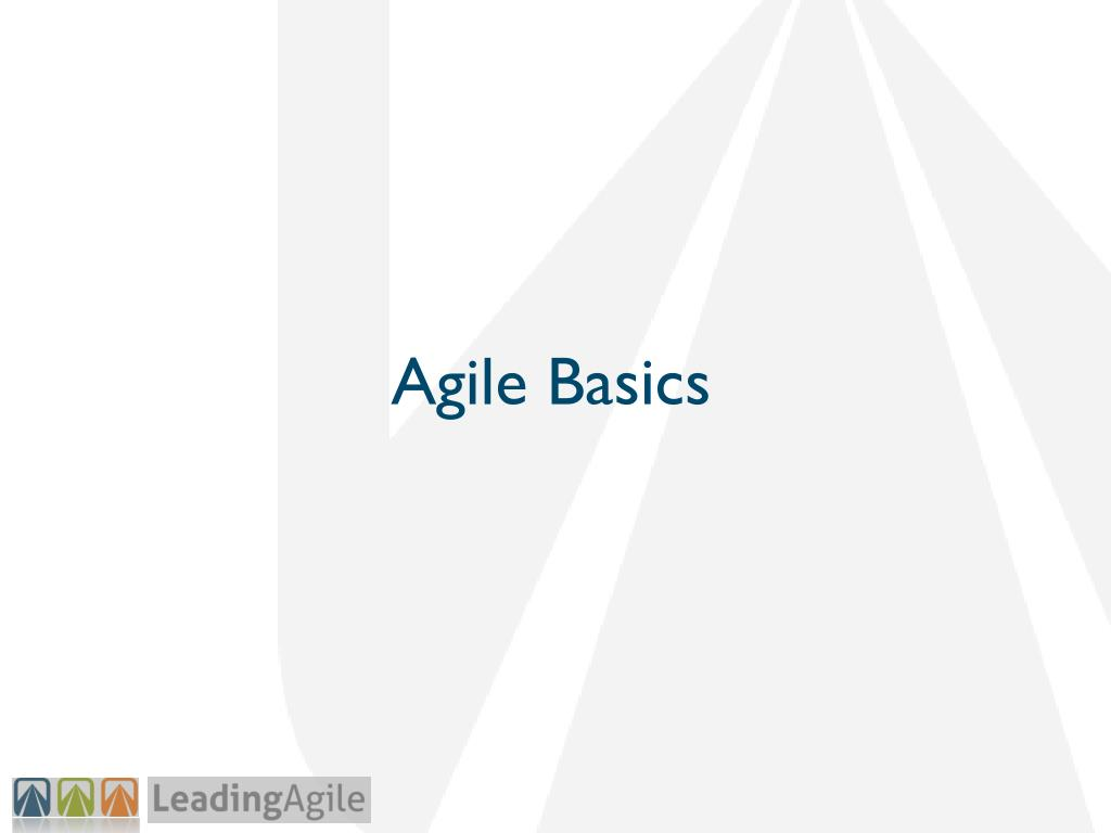 Agile Basics ppt - gaining support for a sustainable agile transformation