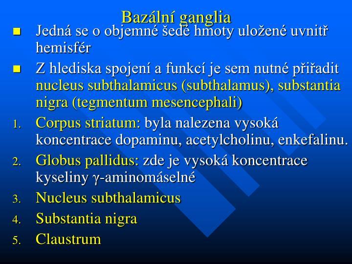 Bazální ganglia