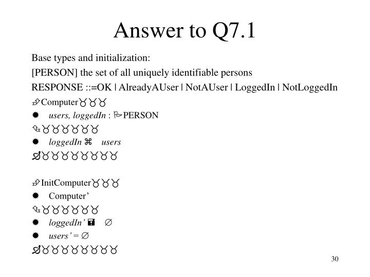 Answer to Q7.1