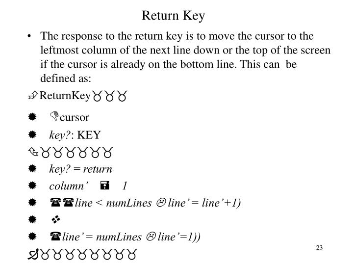 Return Key