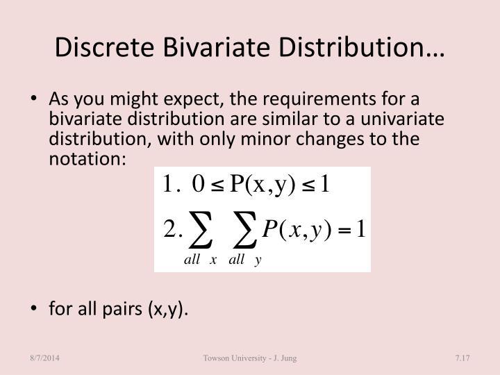 Discrete Bivariate Distribution…