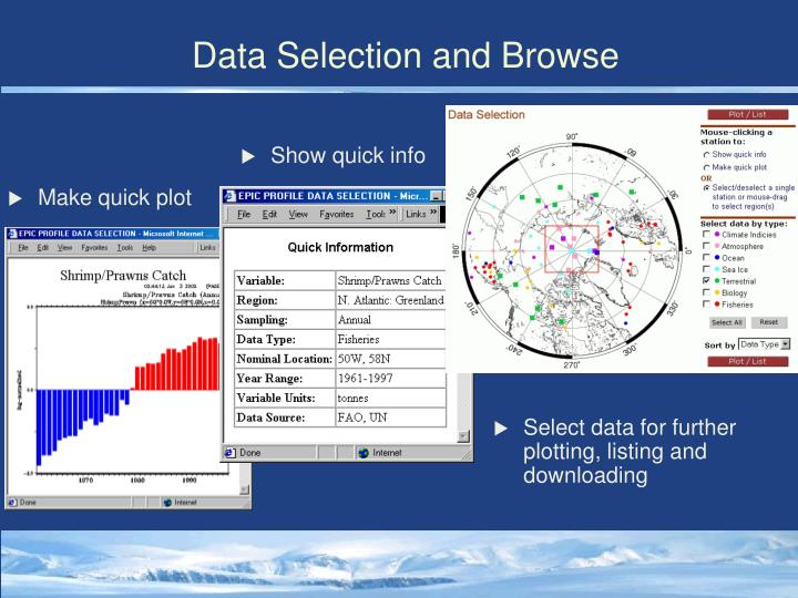 Data Selection and Browse