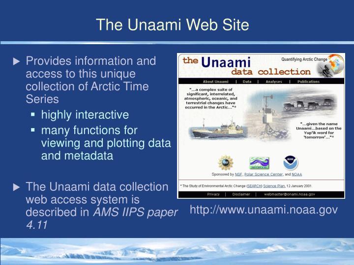 The unaami web site