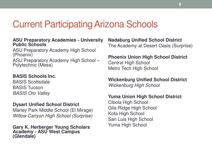 Current Participating Arizona Schools
