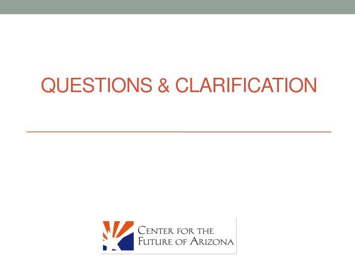 Questions & Clarification