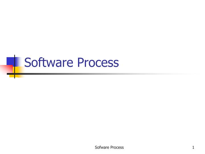 software process n.