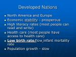 developed nations