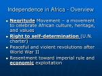 independence in africa overview