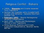 religious conflict balkans